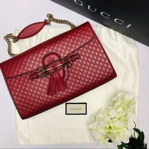 NEW Gucci Emily Guccissima Leather Shoulder Bag